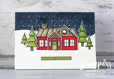 Diy Paper, Paper Crafts, Hearth And Home, Heartfelt Creations, Coming Home, Stampin Up Cards, Craft Supplies, Christmas Cards, Workshop