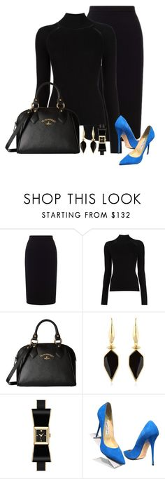 """""""Blue Suede Shoes"""" by paperdollsq ❤ liked on Polyvore featuring Roland Mouret, Misha Nonoo, Vivienne Westwood, Isabel Marant and Jimmy Choo"""