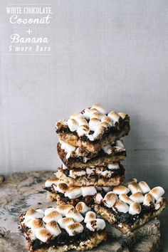 Gluten-Free White Chocolate, Coconut And Banana S'mores Bars