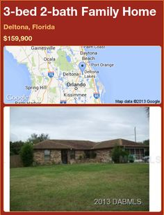 3-bed 2-bath Family Home in Deltona, Florida ►$159,900 #PropertyForSale #RealEstate #Florida http://florida-magic.com/properties/82166-family-home-for-sale-in-deltona-florida-with-3-bedroom-2-bathroom