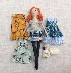 Stoff-Puppe handgemachte Puppe Puppe Satz Spielset von Dollisimo