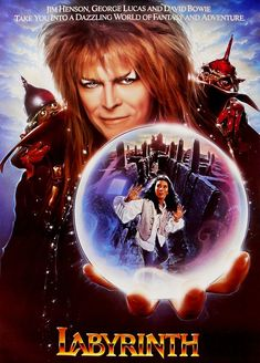 Labyrinth One Sheet David Bowie Fantasy Movie Poster Labyrinth Film, David Bowie Labyrinth, Jim Henson Labyrinth, Old Movies, Vintage Movies, Great Movies, 80s Movie Posters, Movie Poster Art, Movies For Tweens