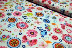 (5606) Hilco Stoff Baumwolle Blumen Vögel Frühling von RUCKN-VANBERCH auf DaWanda.com