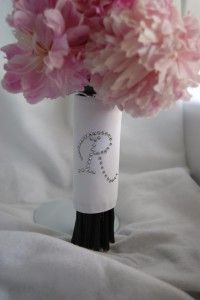 Wedding Craft: Monogrammed Bouquet Wrap