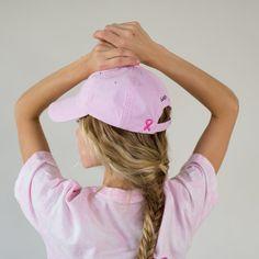 Pink Ribbon Baseball Cap from ivory Ella
