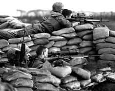Marines at the Battle of Khe Sanh with scoped M-16's.