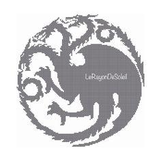 Targaryen house fire and blood cross stitch door LeRayonDeSoleil
