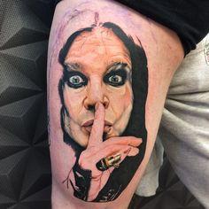 Portrait of Ozzy Osbourne done by Patryk Friday