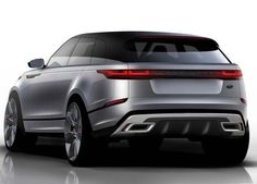 Another lovely rear view #sketch of the new #RangeRover #Velar. See more on http://formtrends.com/range-rover-velar
