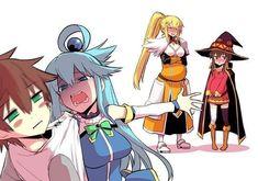 Safebooru is a anime and manga picture search engine, images are being updated hourly. Anime Meme, Otaku Anime, Konosuba Anime, All Anime, Kawaii Anime, Gamers Anime, Manga Pictures, Cute Anime Couples, Anime Art Girl