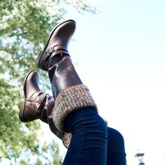 Kick up your feet with the Scarletta boots! Her sweater cuff will keep you extra cozy this fall.