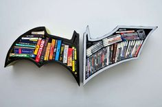 Batman Bookshelves! These would be so cool in my little man's room