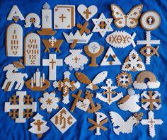 Chrismon Christian Christmas Chrismons Perler Bead Ornament Set of 36