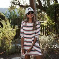 Sporty vibes in the Marcel T-shirt dress.❤️ | shopsincerelyjules.com