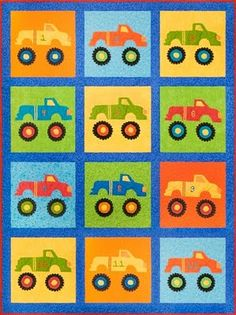 quilts with monster | monster truck quilt by cjb627 | Quilting ... : monster truck quilt - Adamdwight.com
