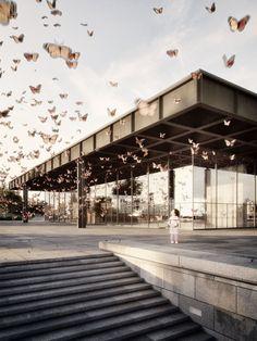 Ludwig Mies van der Rohe. Neue Nationalgalerie. Berlin. Germany. Architectural visualisation © Stefan Hirschsteiner