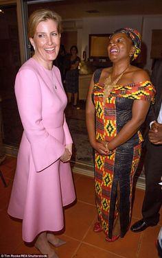 The countess is visiting the East African nation in her role as Vice Patron of The Queen Elizabeth Diamond Jubilee Trust to see the work being done to end avoidable blindness and champion youth leadership