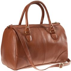 H&M Bag (1.245 RUB) ❤ liked on Polyvore featuring bags, handbags, shoulder bags, purses, accessories, сумки, brown purse, vegan purses, faux-leather handbags and zip purse