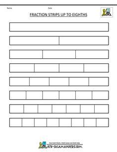 blank student fraction wall   Math   Pinterest   Fraction ...