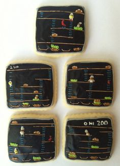 Video Game Cookies: From Pixels to Pastries Fun Cookies, Sugar Cookies, Fun Games, Games To Play, Candy Crush Cheats, School Videos, Family Game Night, Cookie Designs, Nintendo Consoles
