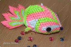 Мастер-класс Оригами модульное: Мастер класс рыбки (карпик) Бумага. Фото 1