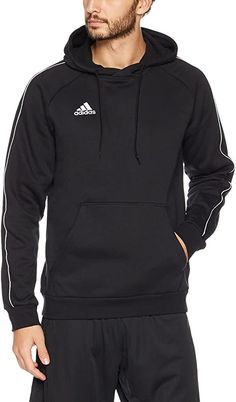 Guter Hoodie zum Chillen daheim  Bekleidung, Herren, Sweatshirts & Kapuzenpullover Adidas Hoodie, Adidas Men, Hoodie Sweatshirts, Sweat Shirt, Black White, Type Of Pants, Heather Black, Trendy Tops, Short