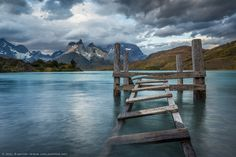 Stairway to 'Cuernos del Paine' by Joel Santos Patagonia, Lightroom, Landscape Photography, Travel Photography, Color Photography, Torres Del Paine National Park, South America Travel, Stairways, Travel Photos