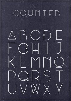 Counter font by Adam Švejda, via Behance
