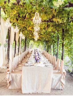 napa_vineyard_wedding_champagne_wildflower_linen_tablescape | Photographer:  Shannon Stellmacher