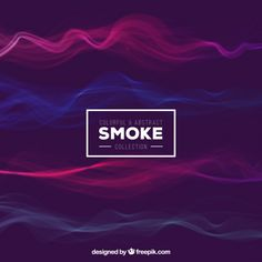 Colorful and abstract smoke background Premium Vector