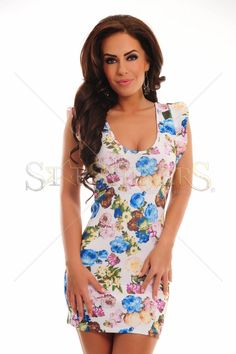 Delicious Allure White Dress Club Style, Fabric Textures, Ruffle Sleeve, Clothing Items, Trendy Outfits, Floral Prints, White Dress, Feminine, Bodycon Dress