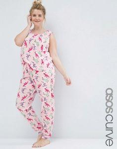 ASOS Curve | ASOS CURVE Balloon Dog Tee & Legging Pyjama Set at ASOS