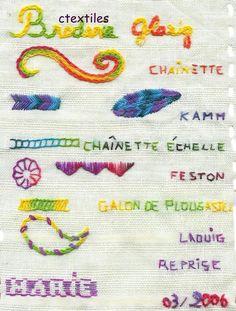 Mars 2006 : broderie Glazig - C textiles