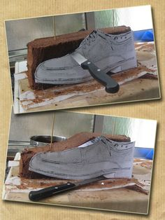 Men's shoe cake TUTORIAL