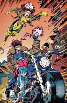 Rogue & Gambit by Jim Callahan Gambit Marvel, Gambit X Men, Rogue Gambit, Marvel Dc Comics, Marvel Heroes, Xmen, Marvel Comic Books, Comic Books Art, Comic Art