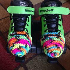 Crochet roller derby skate toe guards