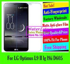 >> Click to Buy << For LG Optimus L9 II lg l9ii D605 LCD film Matte Anti-glare mobile protective film phone screen protector de pantalla projector #Affiliate