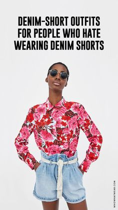 Know the most amazing techniques to display jean mini skirts clothing for almost every time of the year. Jeans Gown, Denim Shorts Outfit, White Denim Skirt, Jean Mini Skirts, Ladies Dress Design, Short Outfits, Who What Wear, Distressed Denim, Men Casual
