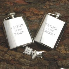 A great thank you gift idea for the Father of the Bride or Father of the Groom Stainless Steel 3oz Hip Flask fits perfectly into your jacket pocket