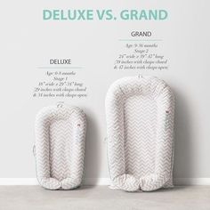 Deluxe or grand? So many moms think baby has outgrown the deluxe before their time, but we have many moms using deluxe with babies 10-14 months. Read our blog at dockatot.com to get answers to these common questions. #dockatot