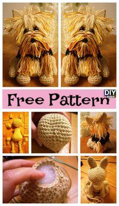 Cute Crochet Yorkie Dog - Free Pattern #freepattern #freecrochetpattern #dog