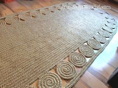 Made To Order Rug All jute rugs can be customized to fulfill your request. ~~~~~~~~~~~~~~~~~~~~~~~~~~~~~~~~~~ We make this beautiful rug by 100% natural jute. If youre looking for a natural material rug that looks 5x as expensive, this is it! This one is elegant in its simplicity and very