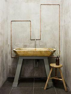 Bad Waschbecken Holz Design