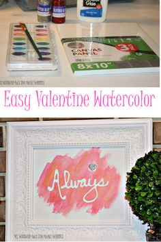 My Husband Has Too Many Hobbies : Watercolor Valentine