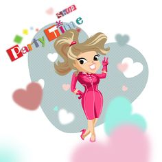 Partytime Mascote by Inaarts Creations