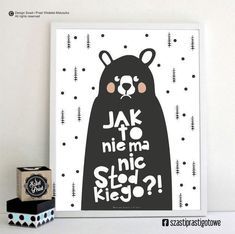 Jak to nie ma nic słodkiego - Mały Art Wall Kids, Art For Kids, Wall Art Prints, Poster Prints, Posters, Bear Drawing, Colorful Wall Art, Baby Design, Design Art