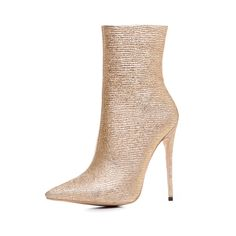 Material:PU; Boot Type:Fashion Boots; Lining Material:Microfiber; Outsole Material:Rubber; Toe:Pointed Toe; Heel Height:12cm