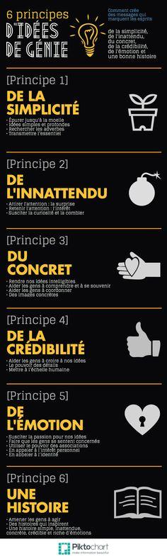Des idées qui collent | @Piktochart Infographic - design Denis Bernard / denbenard@videotr... (source : Idées de génie de Chip et Dan HEATH)
