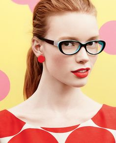 Love the pop of colour in these Kate Spade glasses!