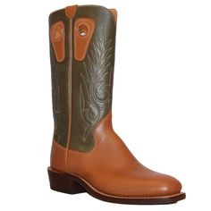 """This color combo is one of our standards. This handmade cowboy boot has a traditional feel. The 14"""" tops make it ideal for the office or working the ranch. The"""